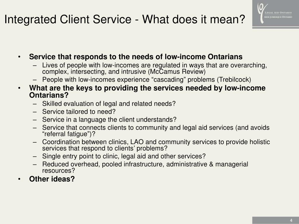 Integrated Client Service - What does it mean?