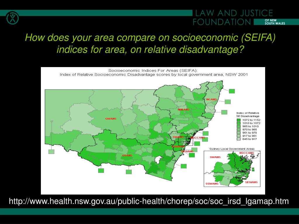 How does your area compare on socioeconomic (SEIFA) indices for area, on relative disadvantage?