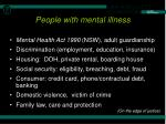 people with mental illness