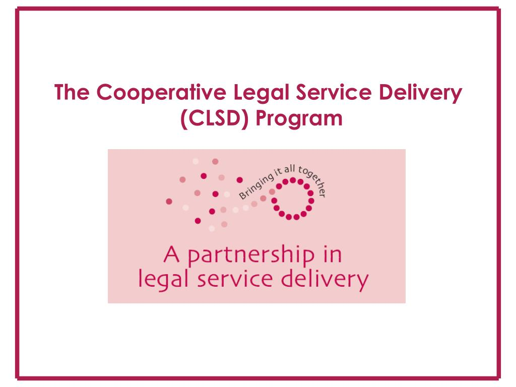 The Cooperative Legal Service Delivery