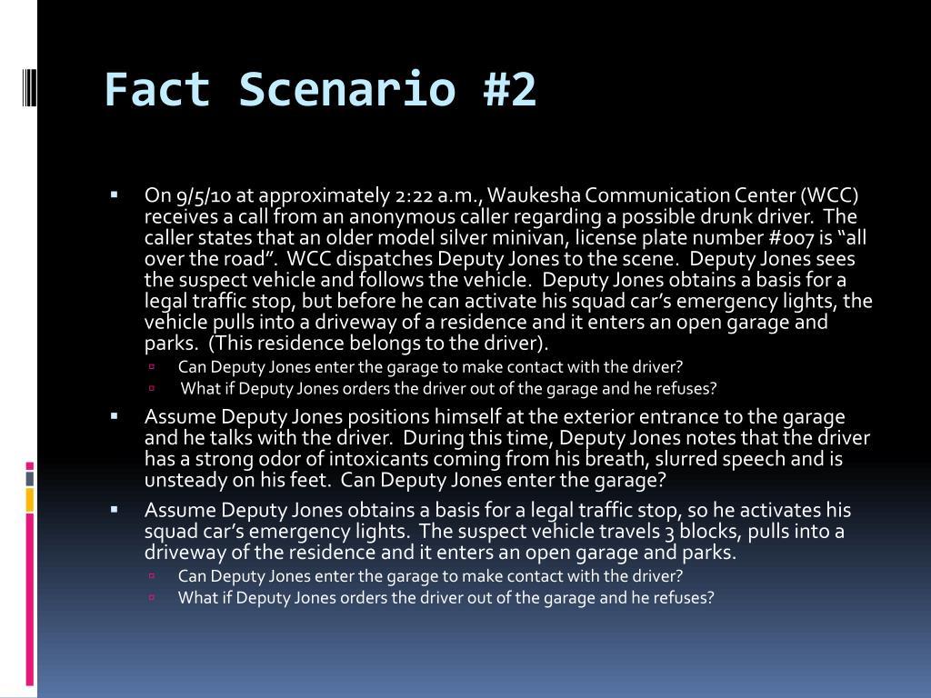 Fact Scenario #2