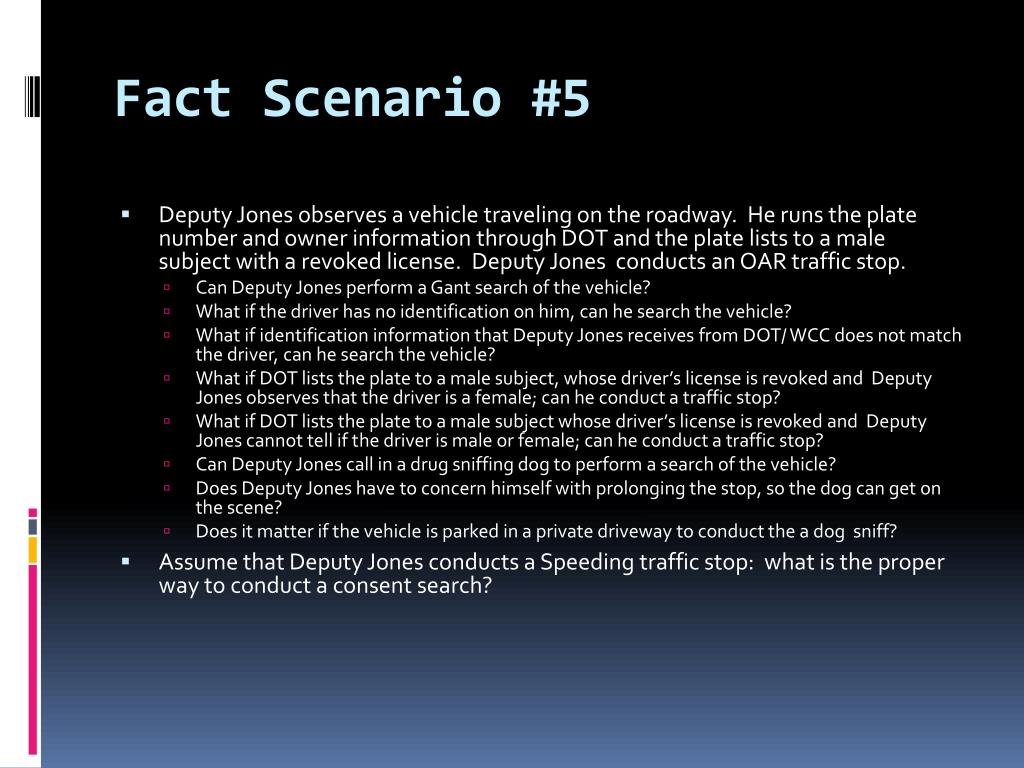 Fact Scenario #5