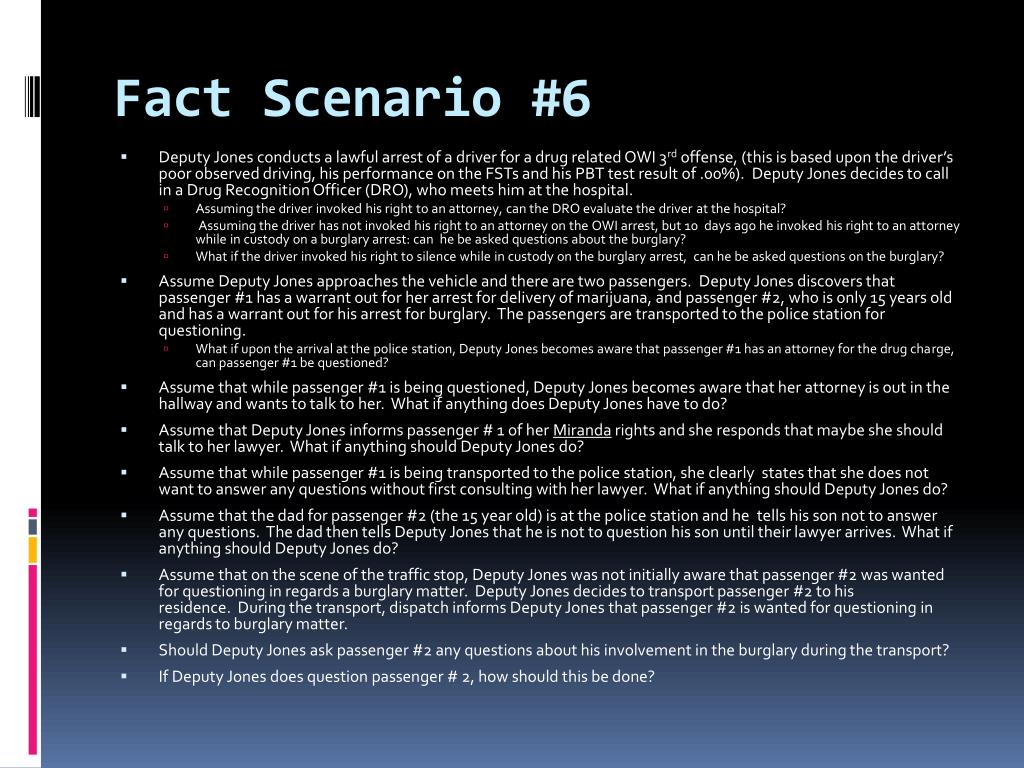 Fact Scenario #6