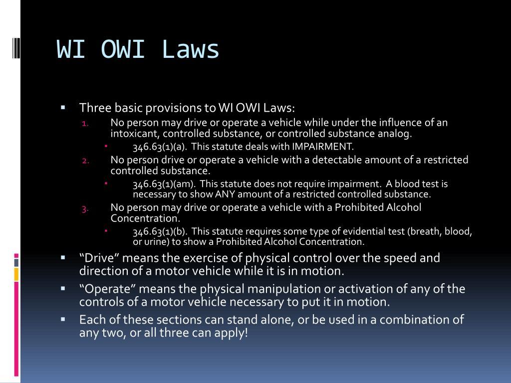 WI OWI Laws