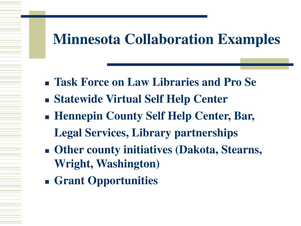 Minnesota Collaboration Examples