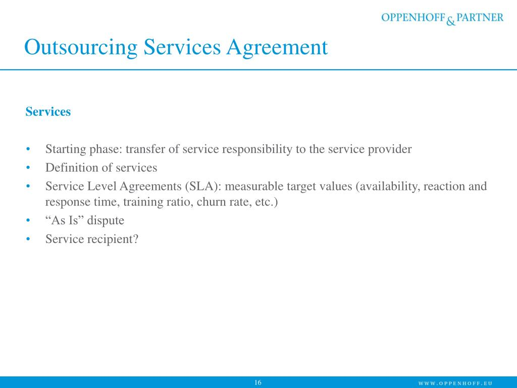 Outsourcing Services Agreement