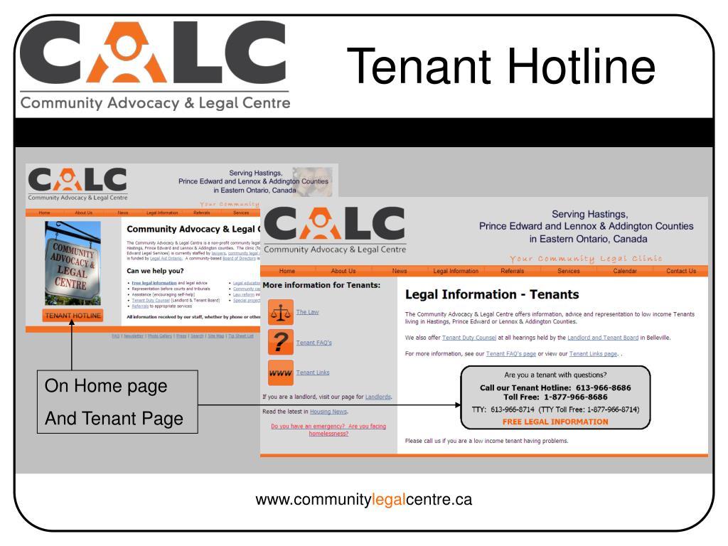 Tenant Hotline
