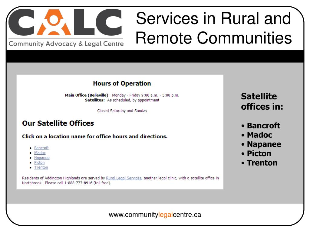Services in Rural and Remote Communities
