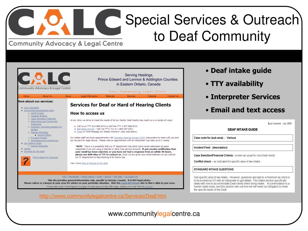 Special Services & Outreach to Deaf Community