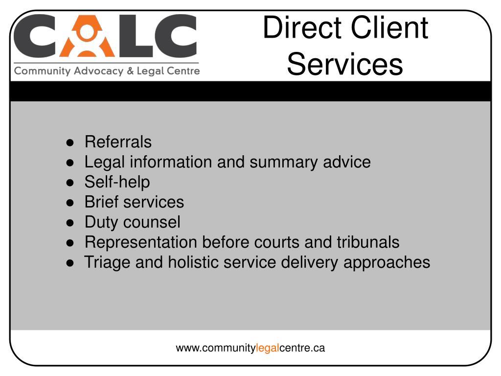 Direct Client Services