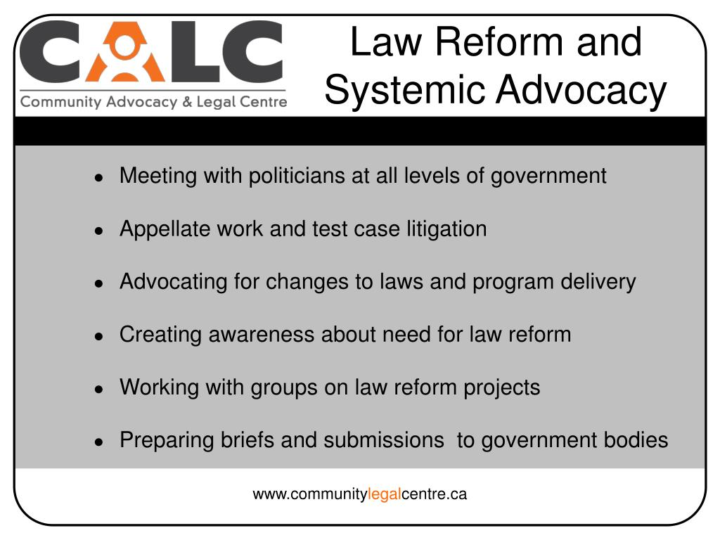 Law Reform and Systemic Advocacy