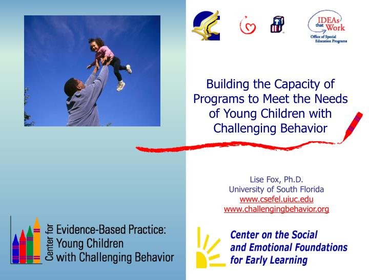 Building the capacity of programs to meet the needs of young children with challenging behavior