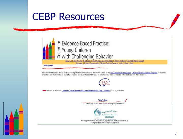 CEBP Resources