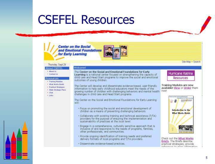 CSEFEL Resources