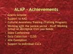 alap achievements