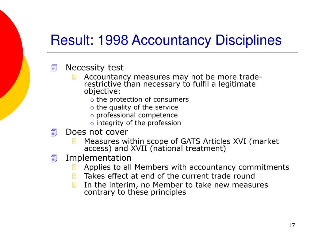 Result: 1998 Accountancy Disciplines
