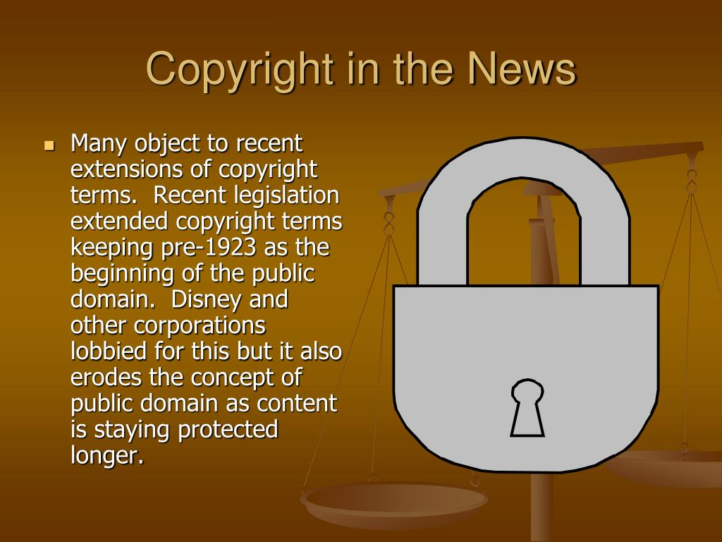 Copyright in the News