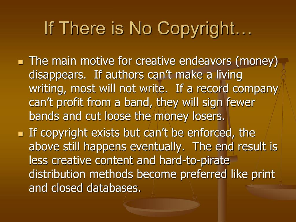 If There is No Copyright…