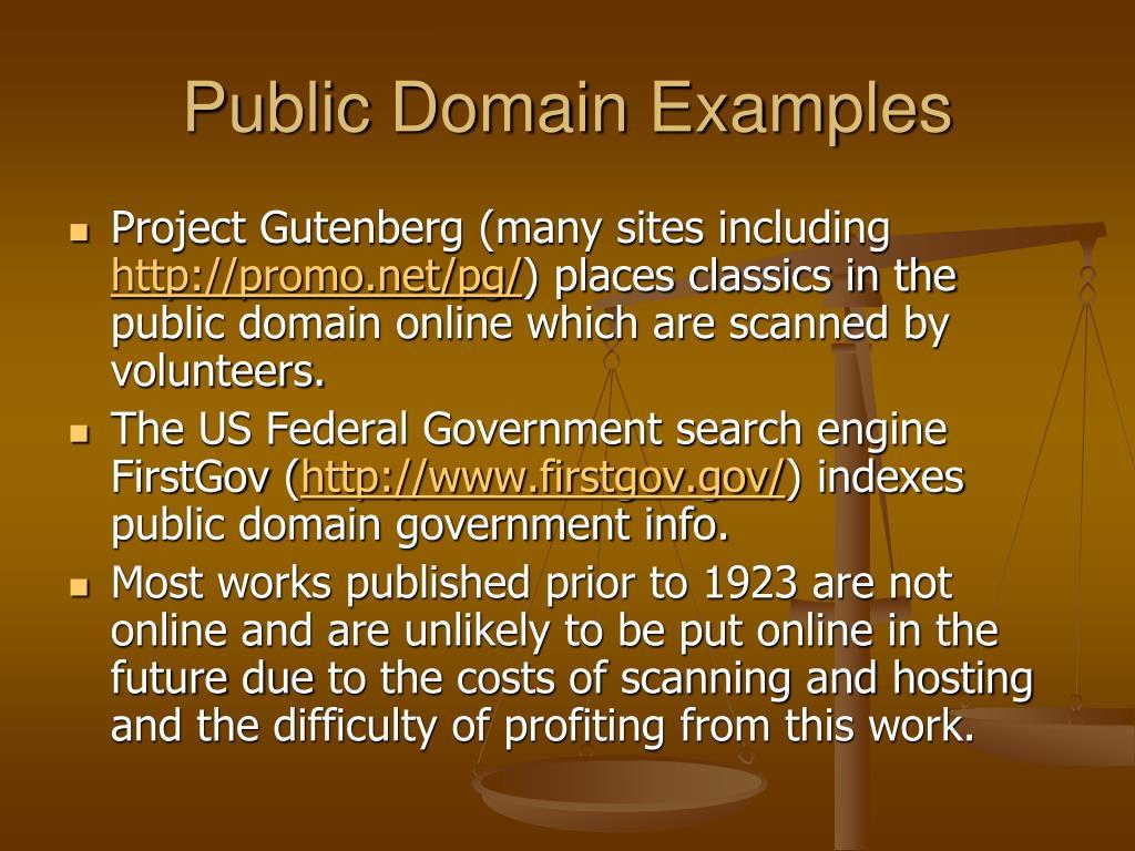 Public Domain Examples