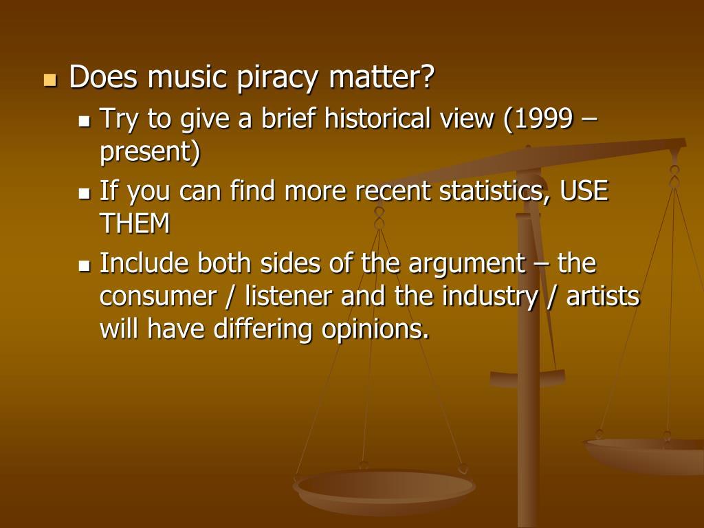 Does music piracy matter?