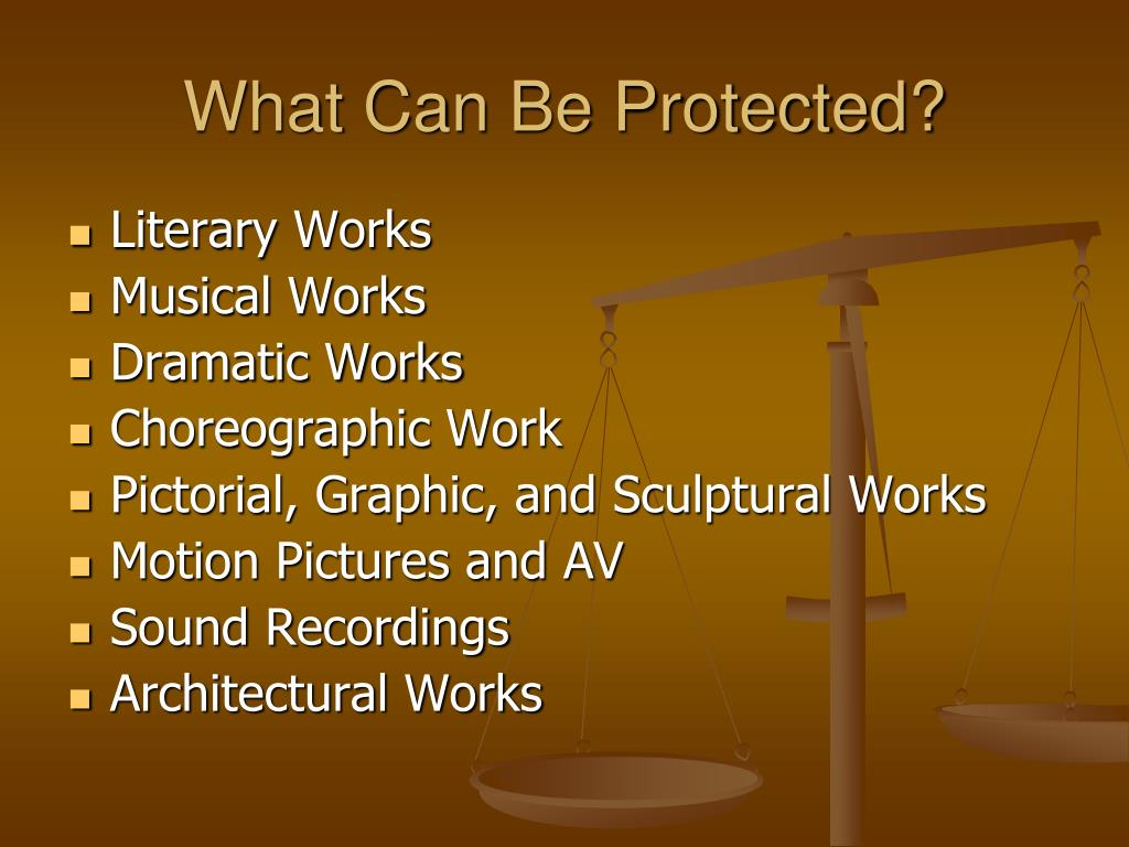 What Can Be Protected?