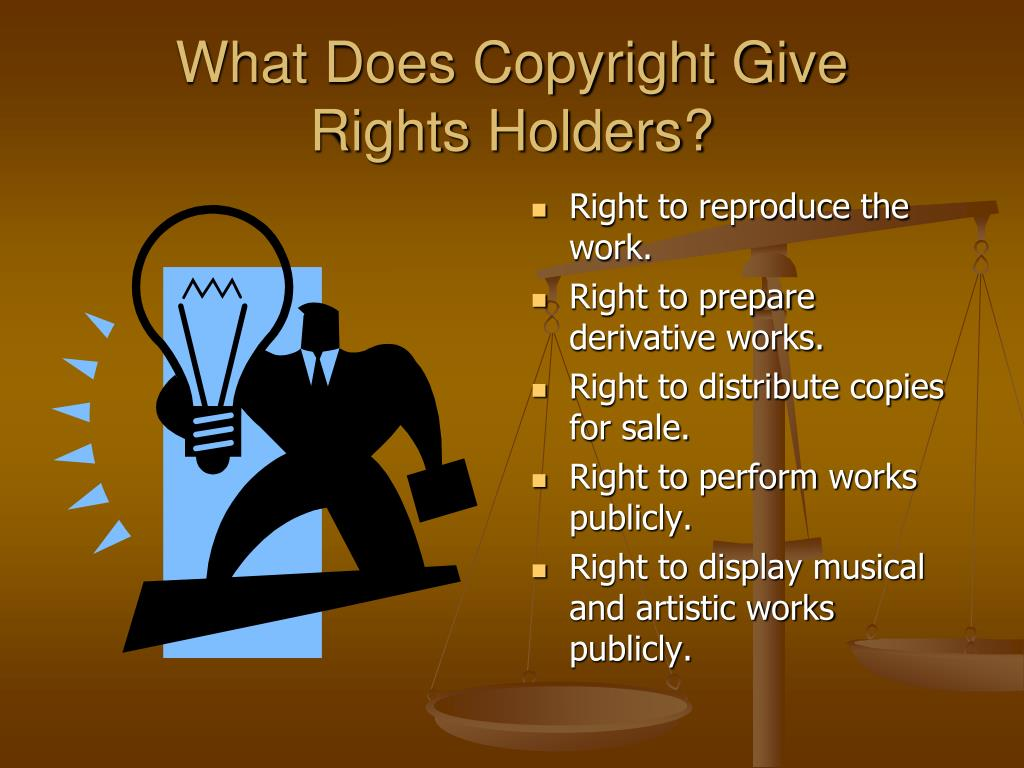 What Does Copyright Give