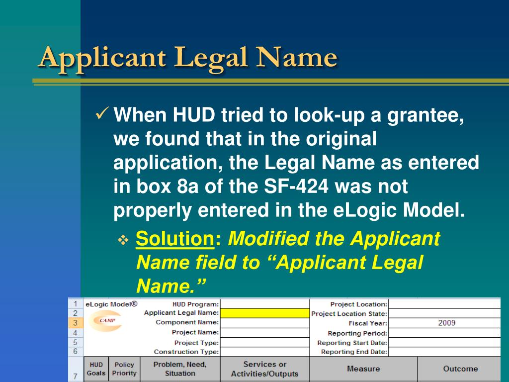 Applicant Legal Name