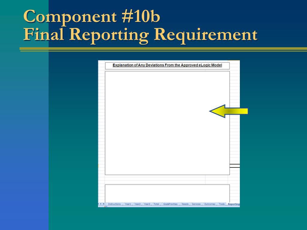 Component #10b