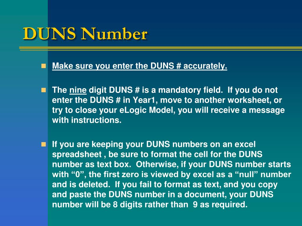 DUNS Number
