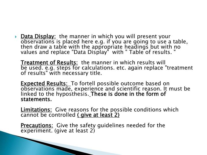 Data Display: