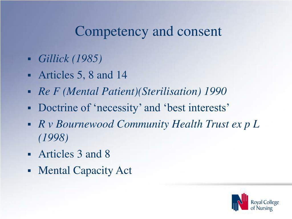 Competency and consent