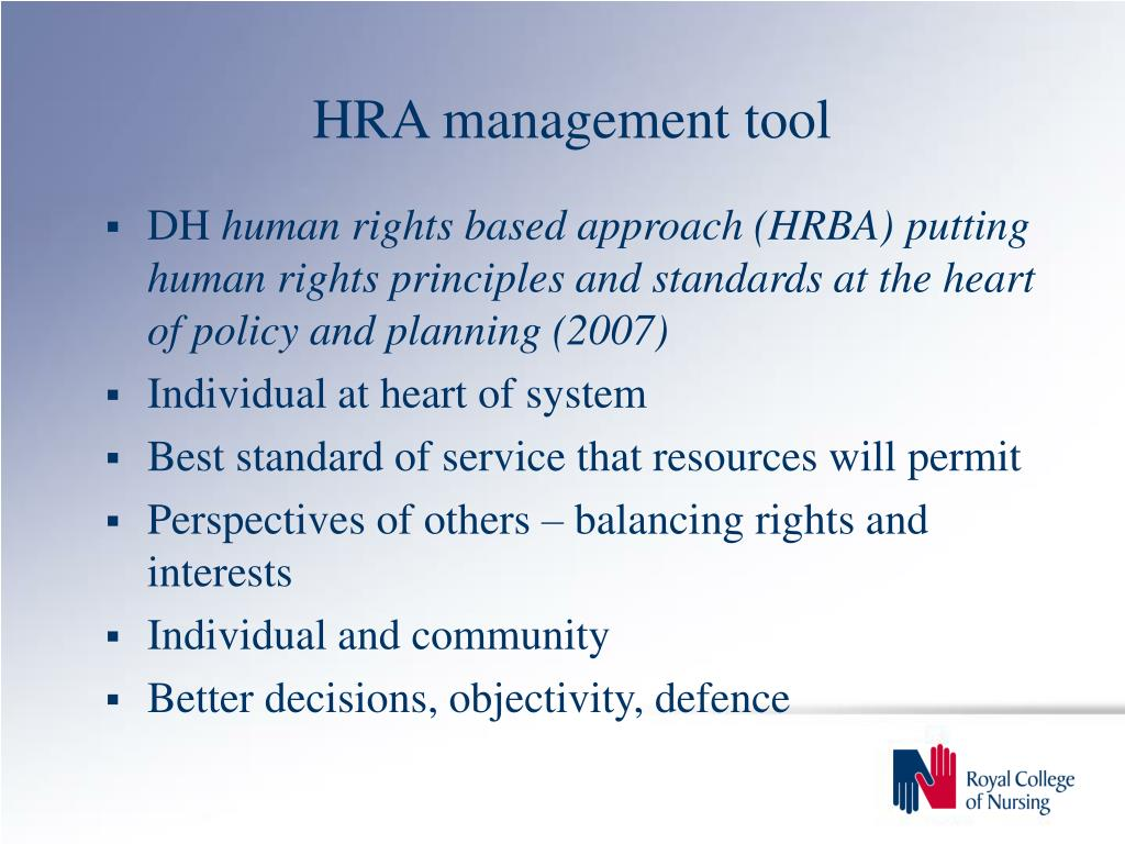 HRA management tool