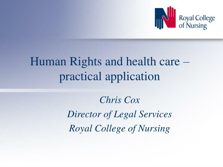 Human rights and health care practical application