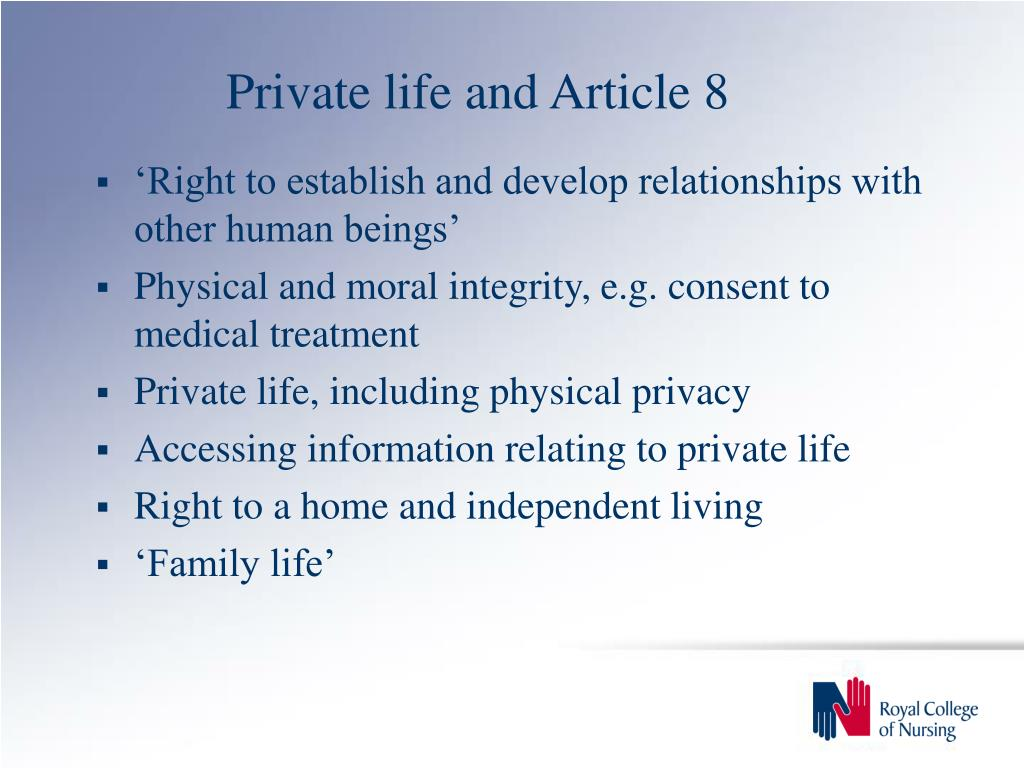 Private life and Article 8