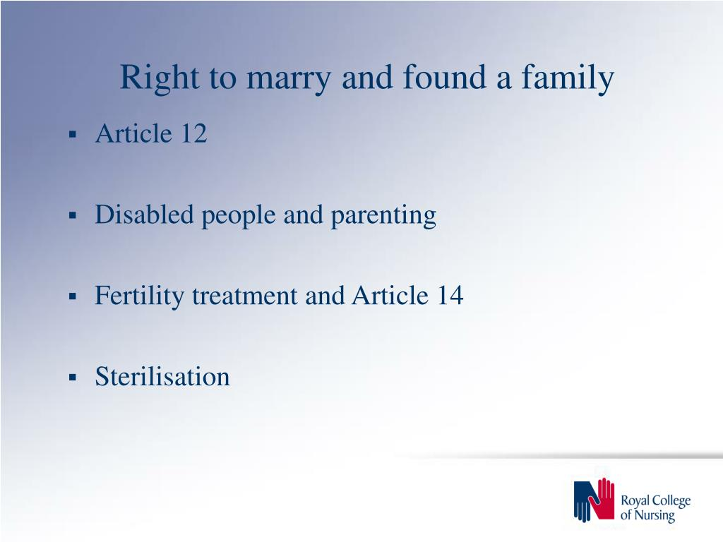 Right to marry and found a family