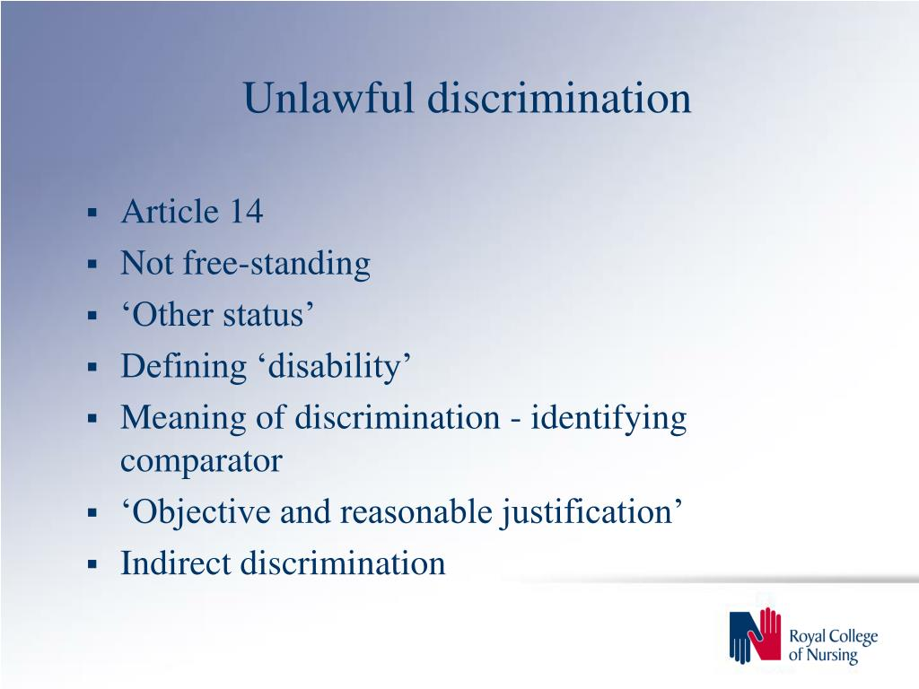 Unlawful discrimination