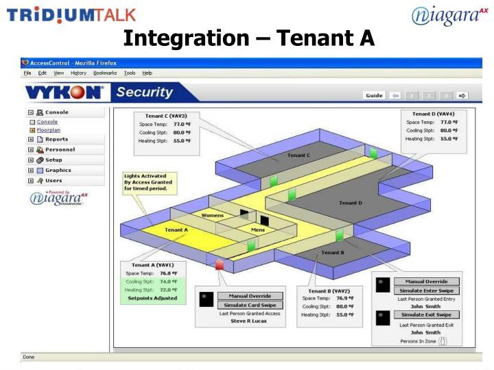 Integration – Tenant A