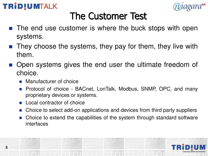 The Customer Test