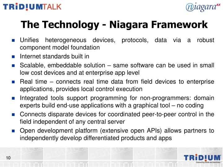 The Technology - Niagara Framework