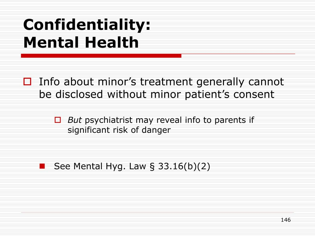 Confidentiality: