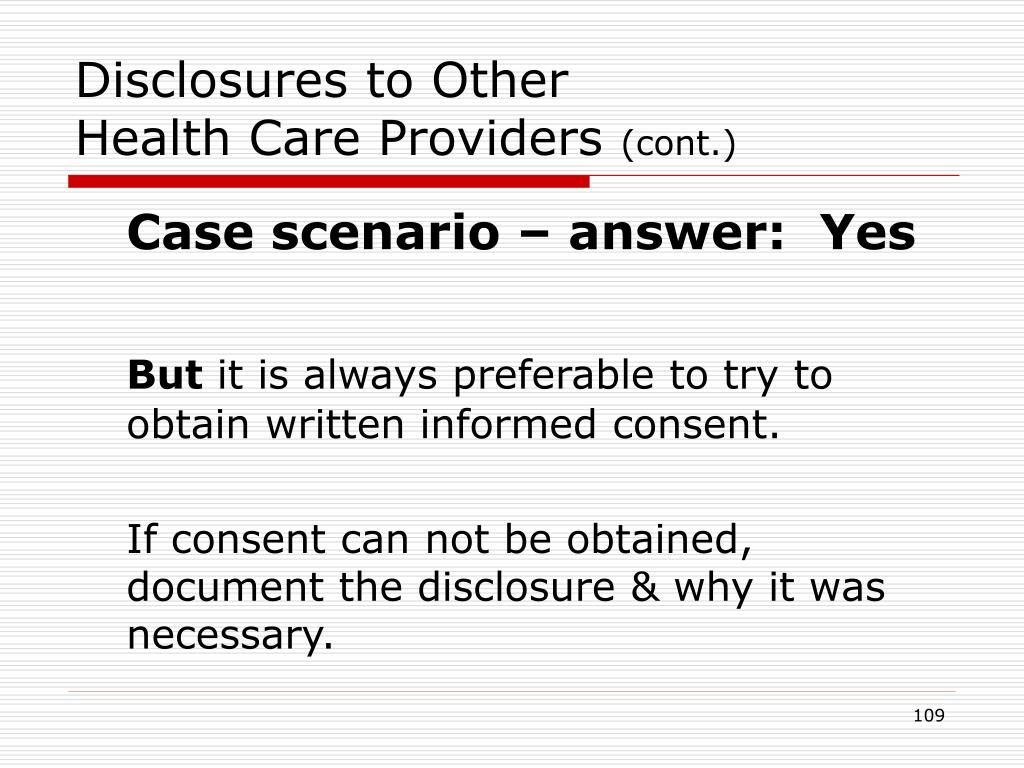 Disclosures to Other