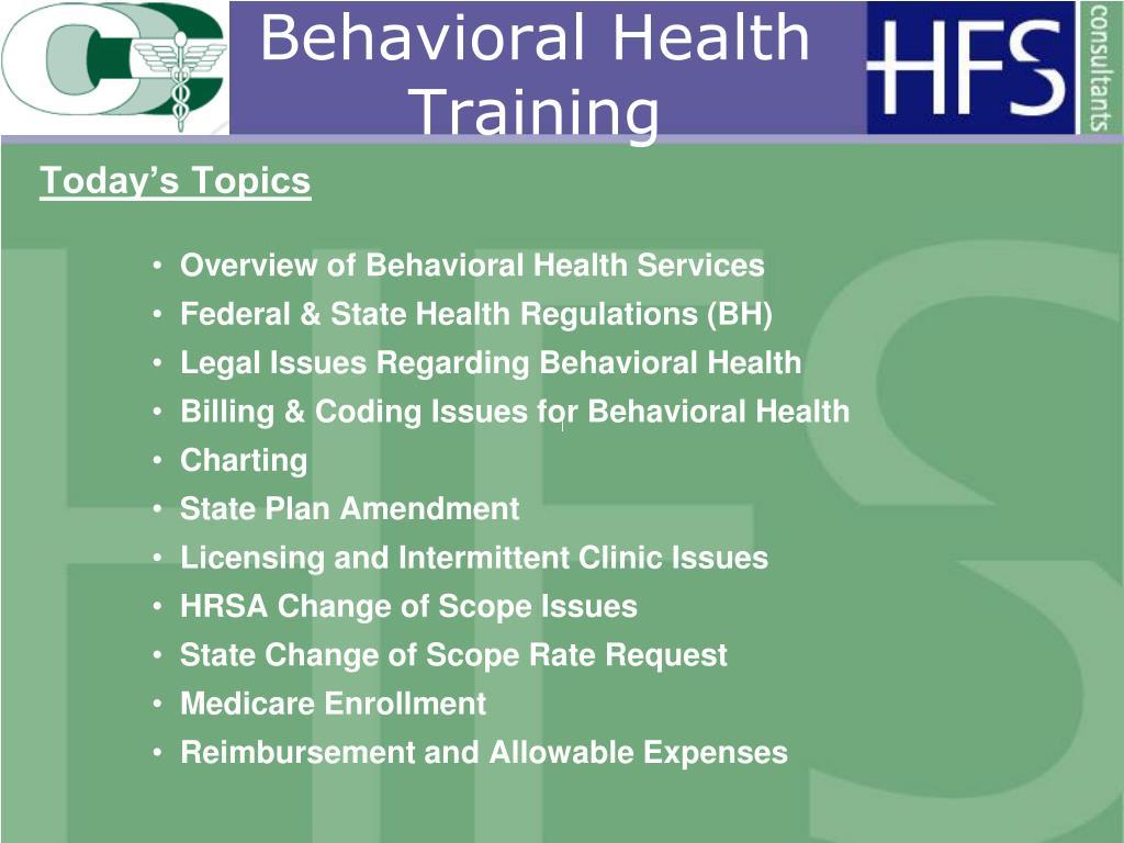 Behavioral Health Training