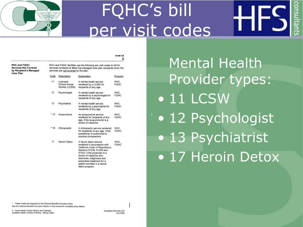 FQHC's bill
