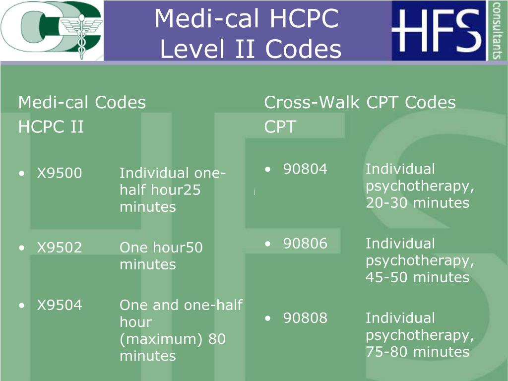 Medi-cal Codes