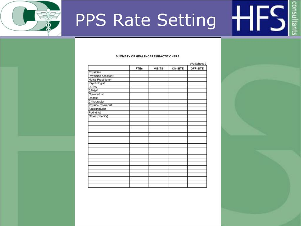 PPS Rate Setting