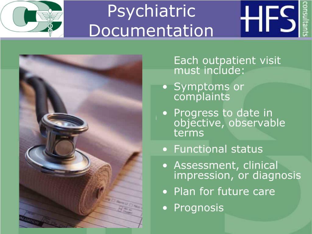 Psychiatric Documentation