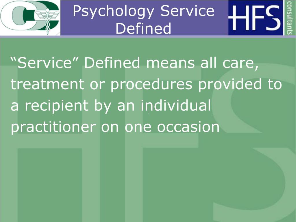 Psychology Service Defined