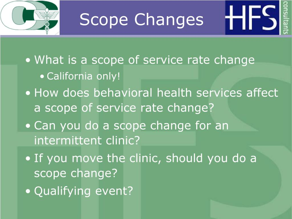 Scope Changes