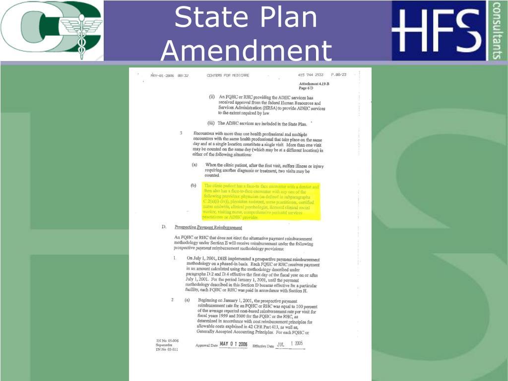 State Plan Amendment