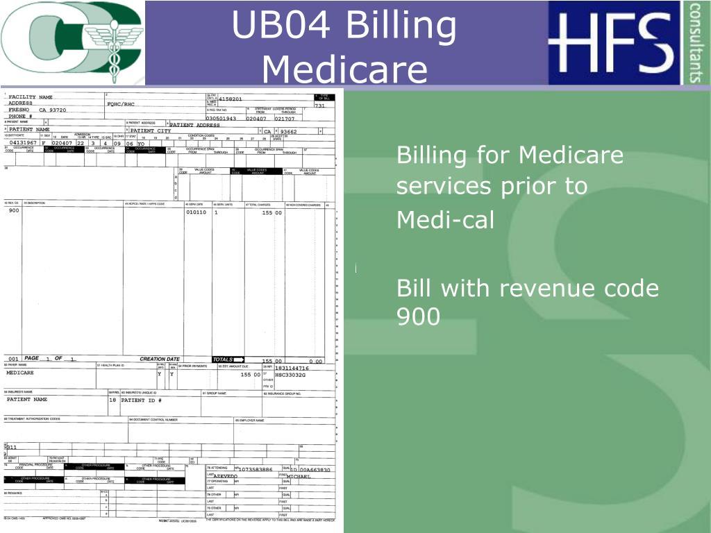 UB04 Billing Medicare